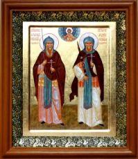 Александр Пересвет и Андрей Ослябя (19х22), светлый киот