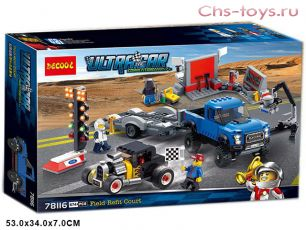 Конструктор Decool Speed Ford F-150 Raptor & Ford Model A Hot Rod 78116 (Аналог LEGO Speed 75875) 674 дет