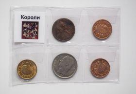 НАБОР МОНЕТ - КОРОЛИ, 5 шт + упаковка