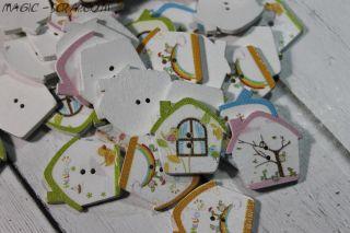 Пуговицы - домики (выберите цвет)