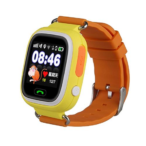 Умные детские часы с GPS Smart Baby Watch Q80 (оранжевый)