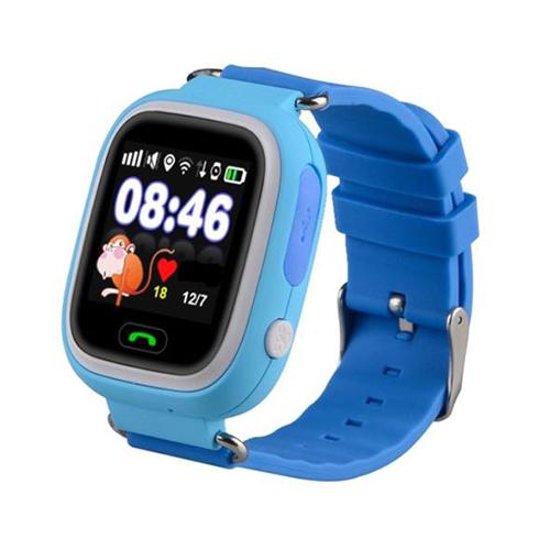 Умные детские часы с GPS Smart Baby Watch Q80 (голубой)