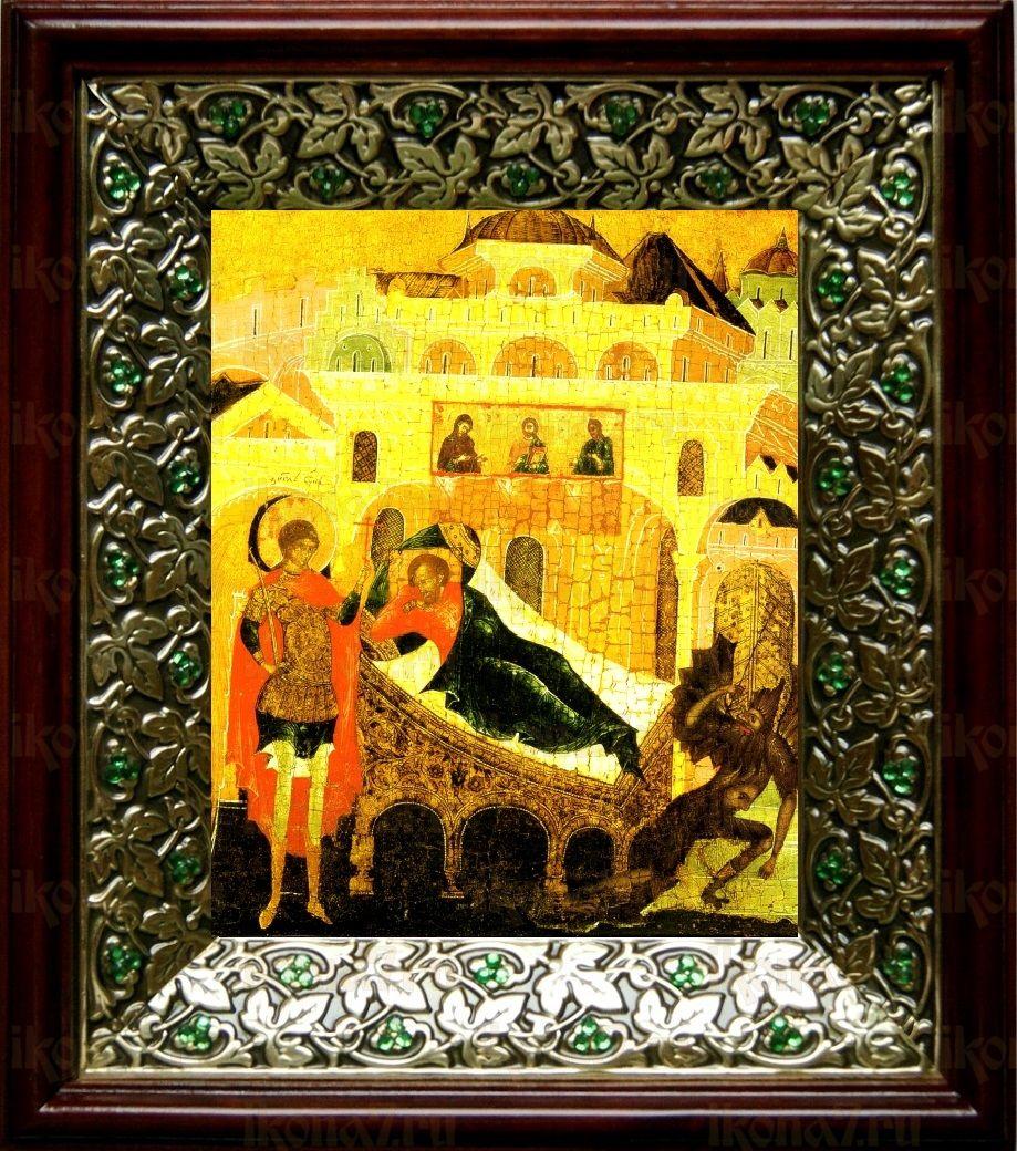 Ангел хранит спящего человека (21х24), киот со стразами