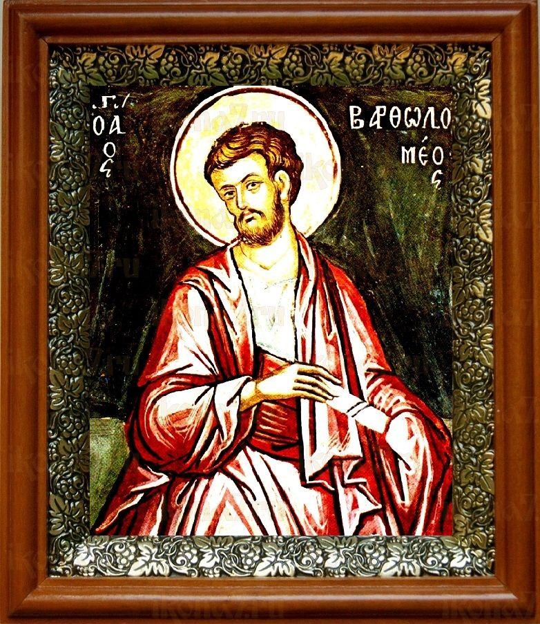 Апостол Варфоломей (19х22), светлый киот