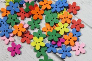 Пуговицы-цветочки (выберите цвет)