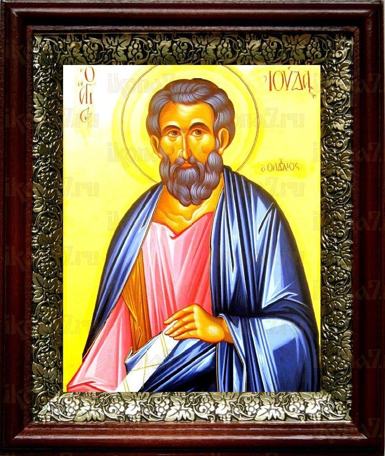 Апостол Иуда Фаддей (19х22), темный киот