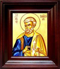 Апостол Матфий (21х24), простой киот
