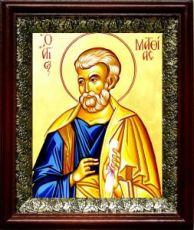 Апостол Матфий (19х22), темный киот