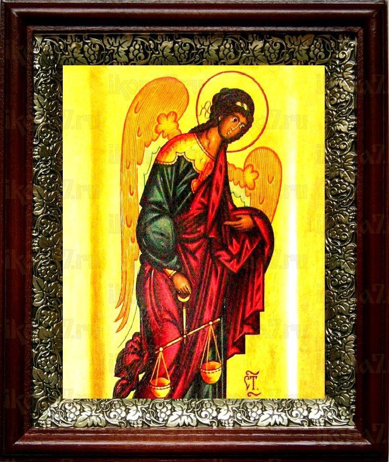 Архангел Иеремиил (19х22), темный киот