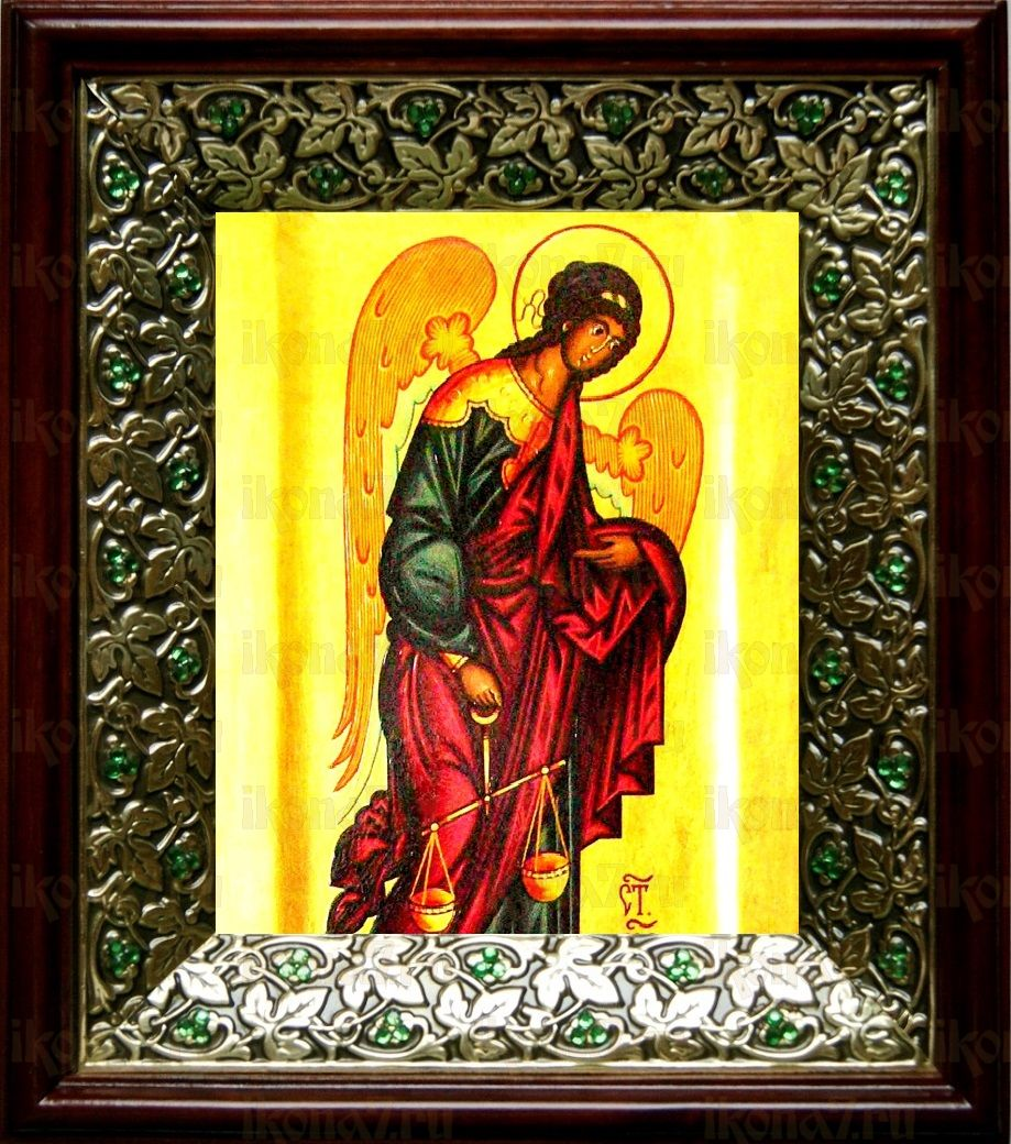 Архангел Иеремиил (21х24), киот со стразами