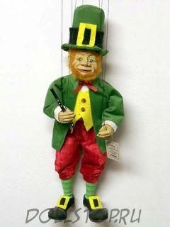 Чешская кукла-марионетка Лепрекон (LEPRECON, Чехия, Praha, Hand Made, авторы  Ивета и Павел Новотные)