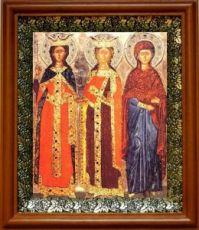 Екатерина и Варвара (19х22), светлый киот