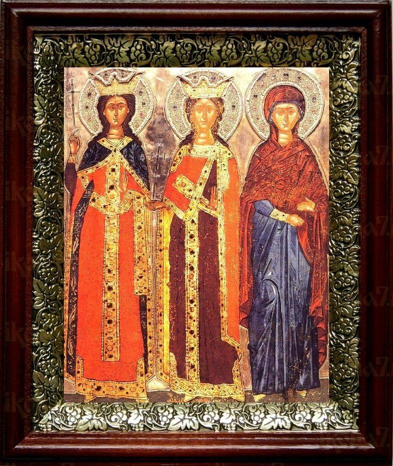 Екатерина и Варвара (19х22), темный киот
