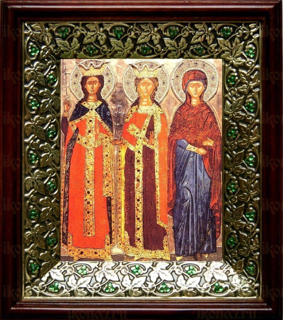 Екатерина и Варвара (21х24), киот со стразами