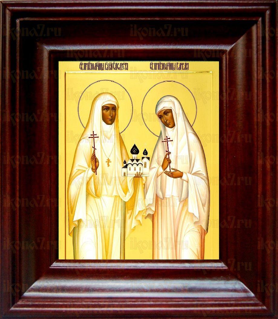 Елизавета и Варвара (21х24), простой киот