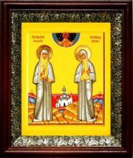 Елизавета и Варвара (19х22), темный киот