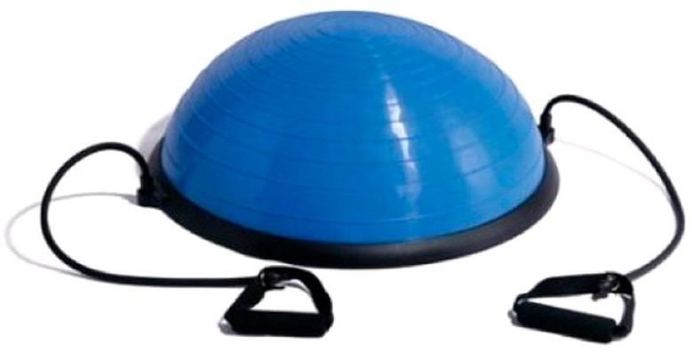 Полусфера для фитнеса BOSU INDIGO IN086 60см с эспандерами и насосом