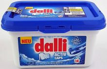 Dalli Средство для стирки белого и светлого белья с формулой глубокого очищения Active Caps в капсулах 14 шт 425 г