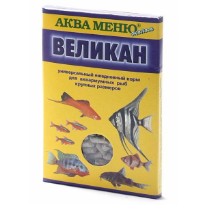 Корм Аква Меню Великан 35гр для аквариумных рыб крупных размеров