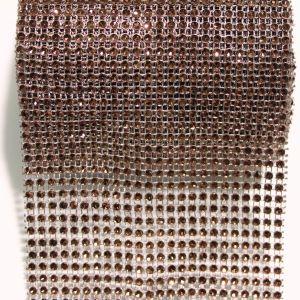 """Лента декоративная """"имитация страз"""", ширина 12 см, длина 10 ярдов, цвет: 53 кофе"""