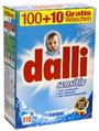 Dalli Стиральный порошок c антиаллергенной формулой Sensitive detergent подходит для деликатных тканей 110 стирок 7,15 кг
