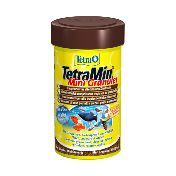 Корм Tetra Mini Granulat мелкие гранулы 100мл для всех видов рыб