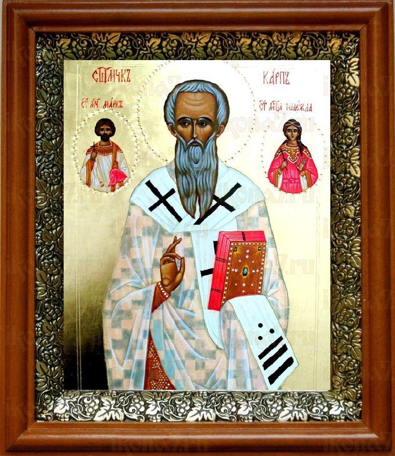 Карп, апостол от 70-ти (19х22), светлый киот