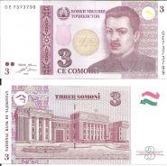 Таджикистан 3 Сомони 2010 UNC