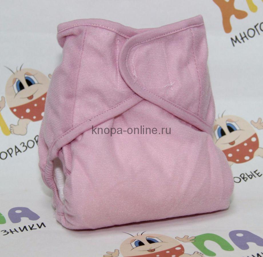 Подгузник на липучках - Розовый бамбук