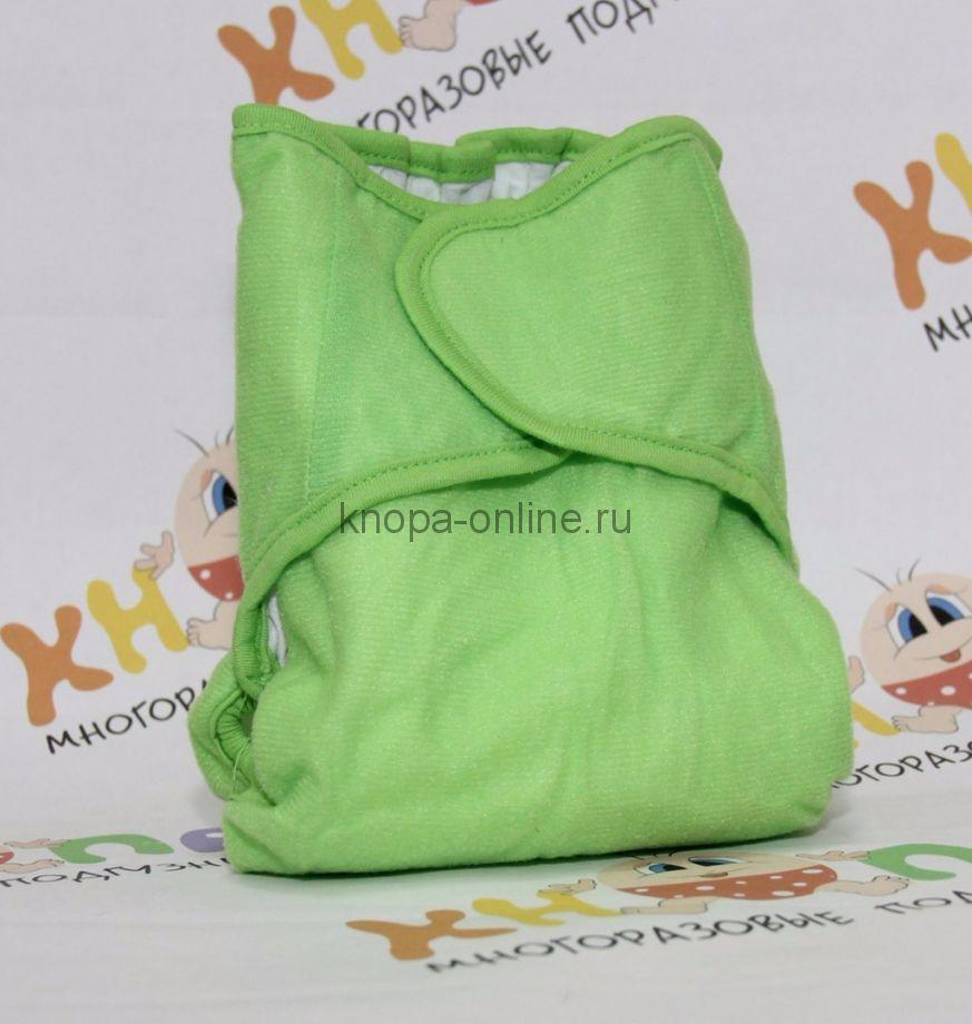 Подгузник на липучках - Зеленый бамбук