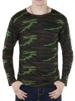 Камуфляжная футболка с длинным рукавом№БГ107А