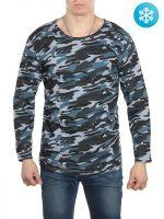 Камуфляжная футболка с начесом №БГ105А