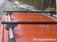 Багажник на рейлинги Атлант, стальные прямоугольные дуги