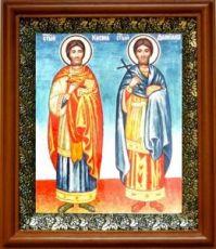 Косьма и Дамиан (19х22), светлый киот