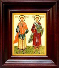 Косьма и Дамиан (21х24), простой киот