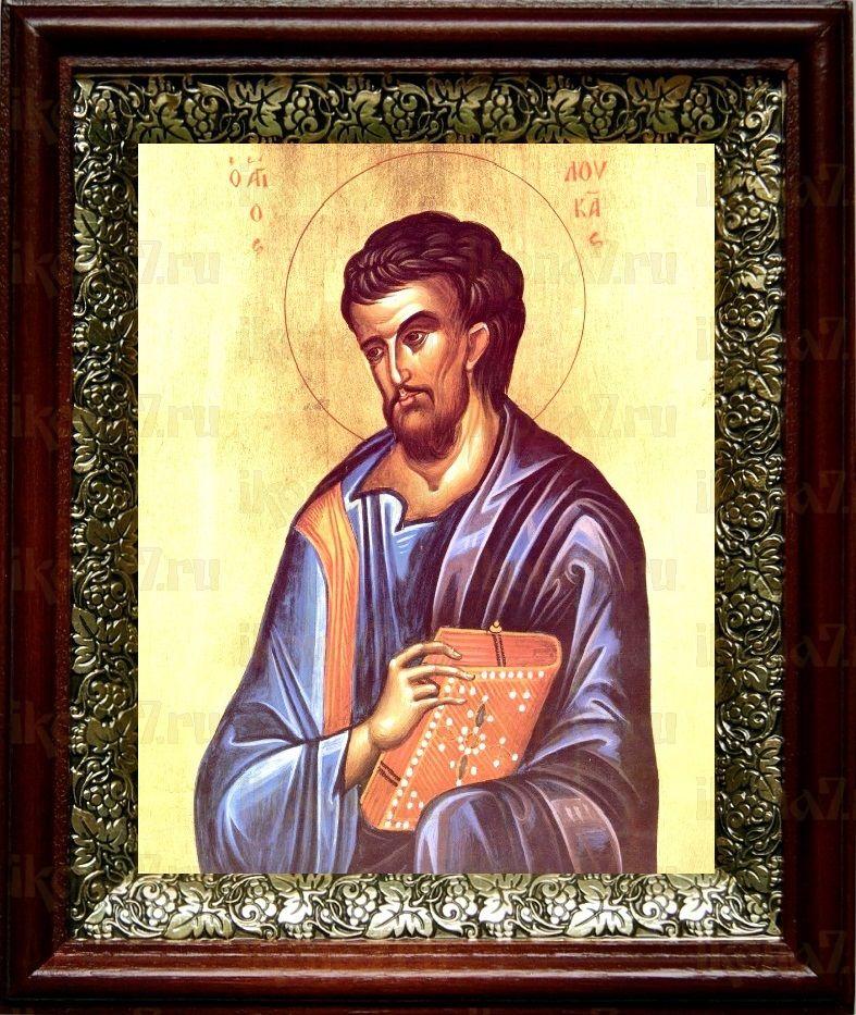 Лука, апостол (19х22), темный киот