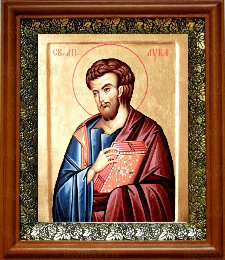 Лука, апостол (19х22), светлый киот
