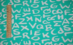Буквы на ментоле01 Футер 2-х нитка