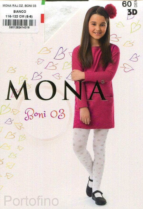 Boni 03 детские колготки Mona 60 DEN