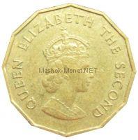 Остров Джерси 1/4 шиллинга (3 пенса) 1966 г.