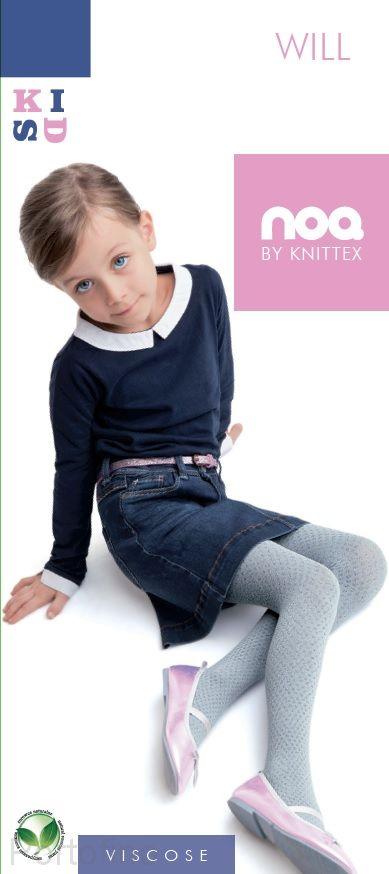 Will вискозные колготки с узором для девочек Knittex