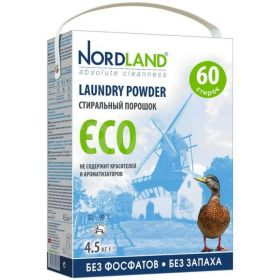 Стиральный порошок Nordland Eco без фосфатов, 4.5кг