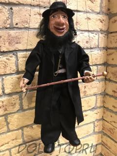 Чешская кукла-марионетка Еврей - Žid (Чехия, Praha, Hand Made, авторы  Ивета и Павел Новотные)