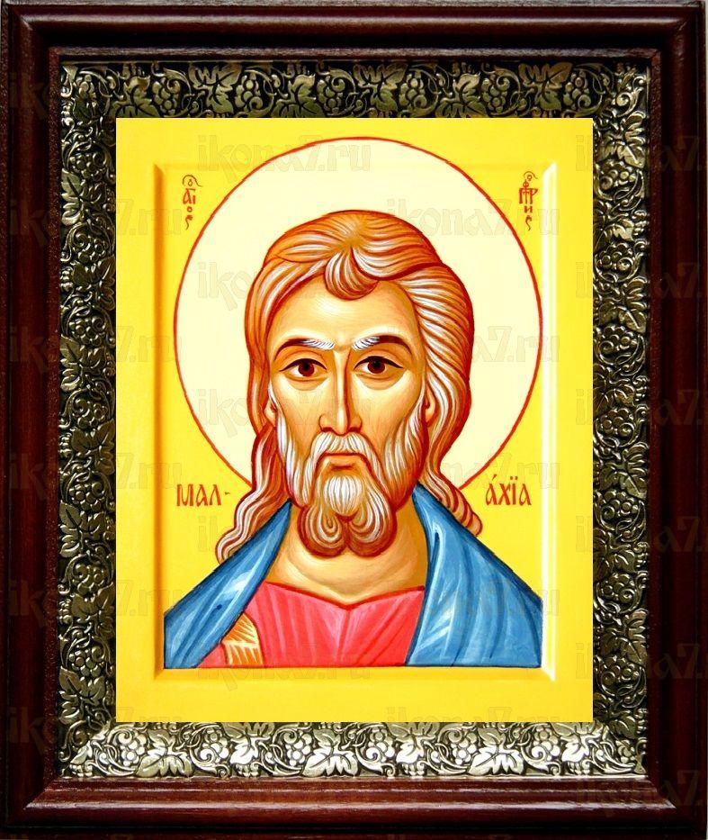 Малахия, пророк (19х22), темный киот