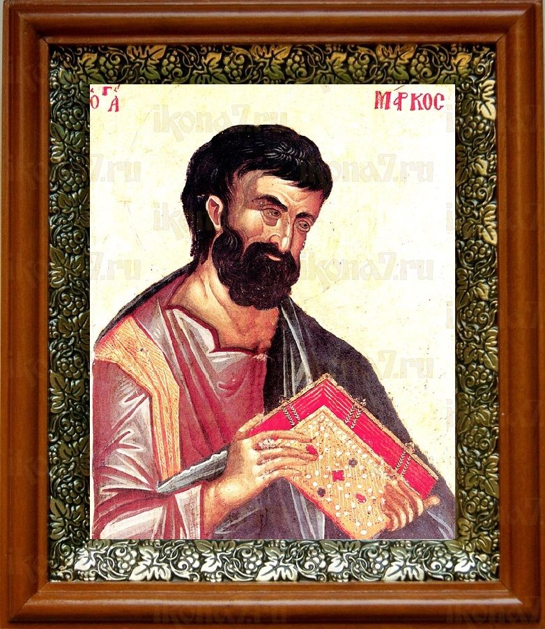 Марк, апостол (19х22), светлый киот