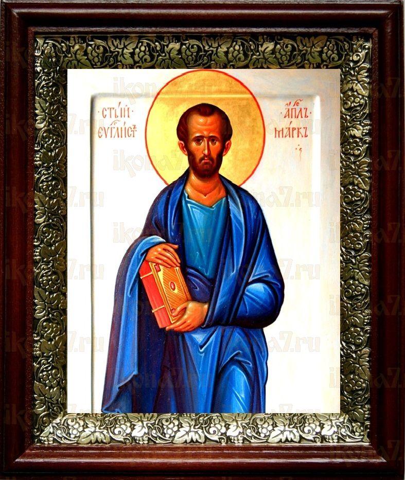 Марк, апостол (19х22), темный киот