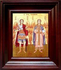 Михаил и Гавриил (21х24), простой киот