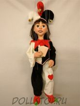 Чешская кукла-марионетка Джокер  - A29 Joker (Чехия, Praha, Hand Made, авторы  Ивета и Павел Новотные)