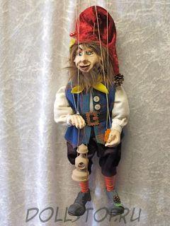 Чешская кукла-марионетка Гном  - A41 TRPASLÍK (Чехия, Praha, Hand Made, авторы  Ивета и Павел Новотные)