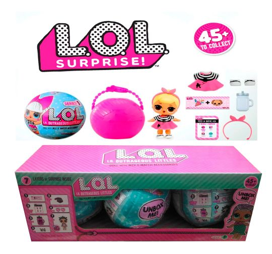 Игрушка Кукла-сюрприз LOL в шарике (в коробках по 3 шара)